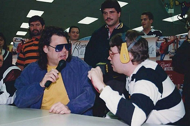 Ronnie Milsap is interviewed at the KHAK FCC Autograph Party at K's Merchandise 4/26/92