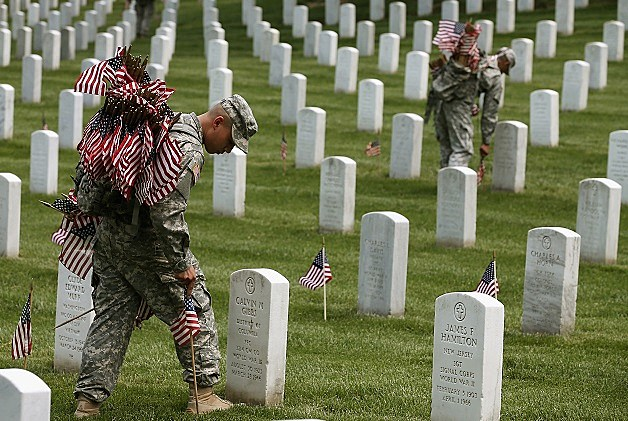 Flags In Ceremony At Arlington National Cemetery Honors Fallen Service Members