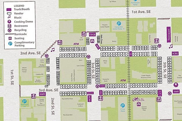 Downtown Farmers Market Map