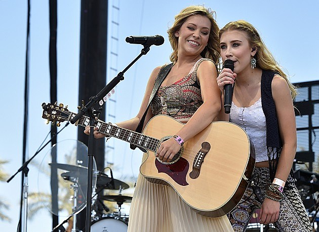 Maddie & Tae perform on day three of 2015 Stagecoach, California's Country Music Festival, at The Empire Polo Club on April 26, 2015 in Indio, California.