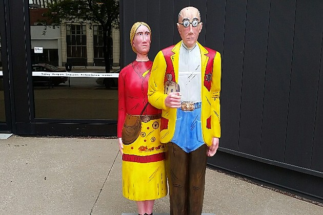 Grant Woods American Gothic Takes Over Cedar Rapids And Beyond