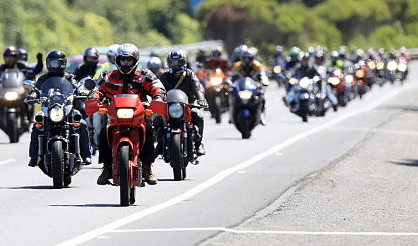 Bikers Descend On Parliament To Protest Increases In ACC Levies