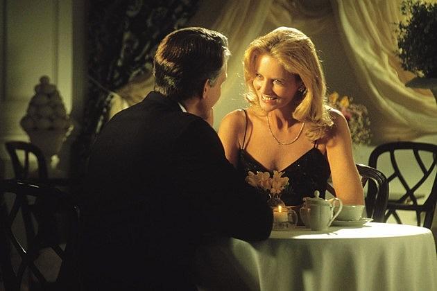 Couple dining in elegant restaurant