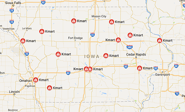 KMart locations in Iowa