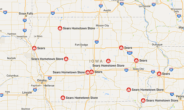 Sears locations in Iowa