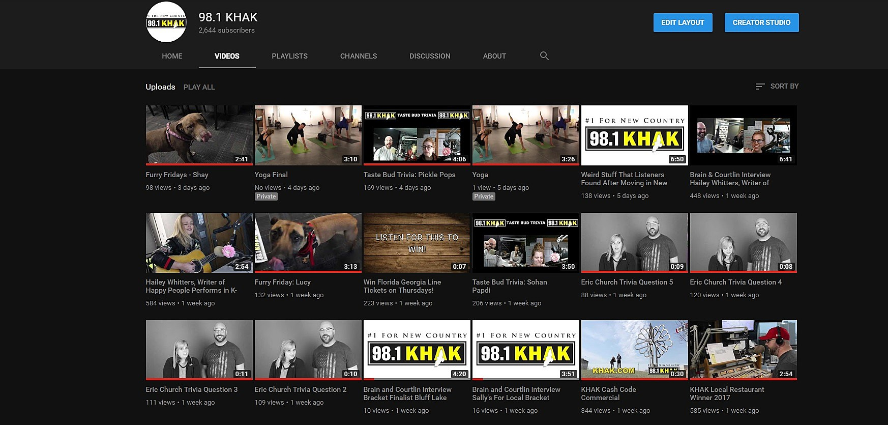 YouTube via KHAK
